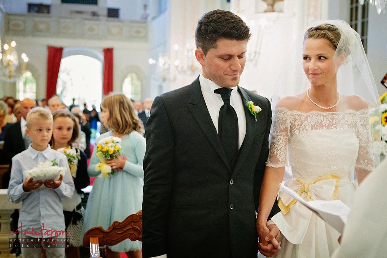 sposi all'altare matrimonio Genova