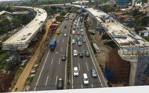 Pembangunan LRT dan Mobilitas di Tol Jakarta - Cikampek