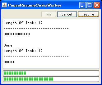 java swing tips pause and resume swingworker