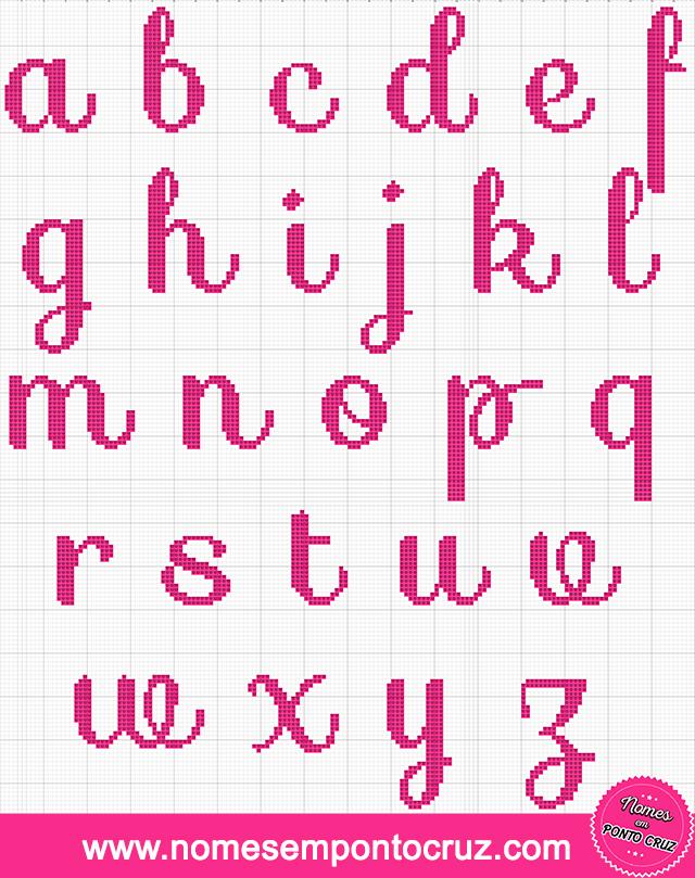 Alfabeto Minúsculo em Ponto Cruz