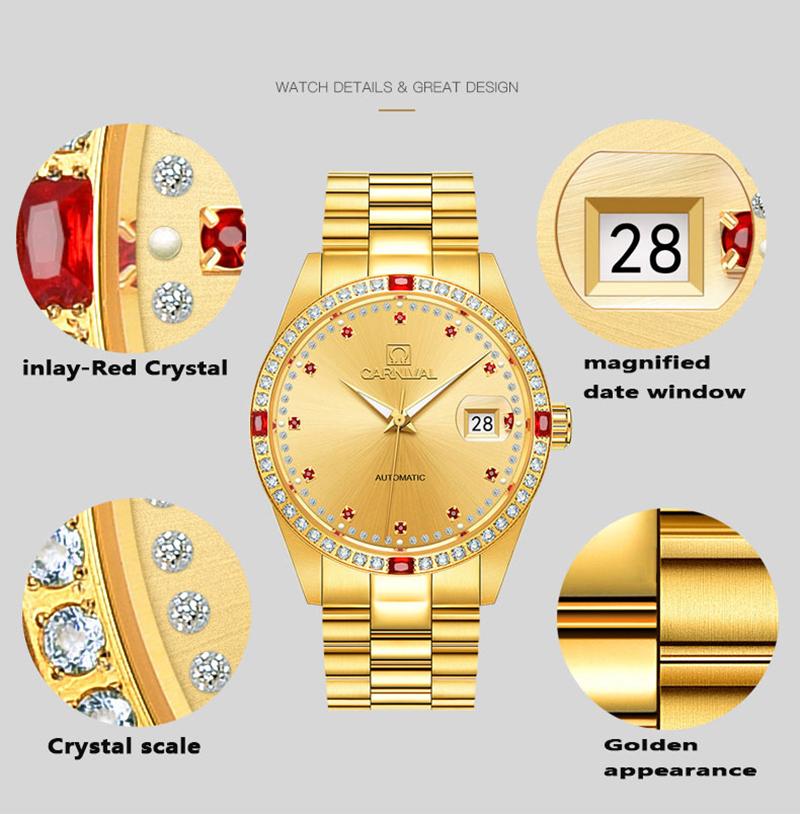 đồng hồ vàng mạ PVD