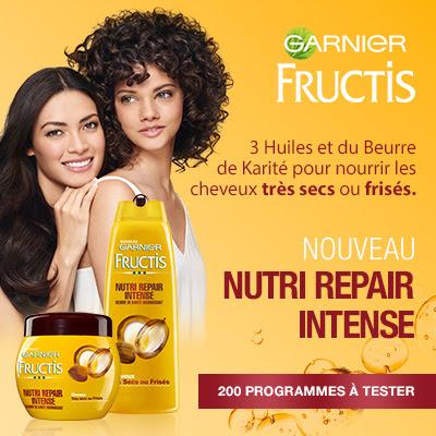 200 programmes Nutri Repair Intense - Fructis de Garnier à gagner