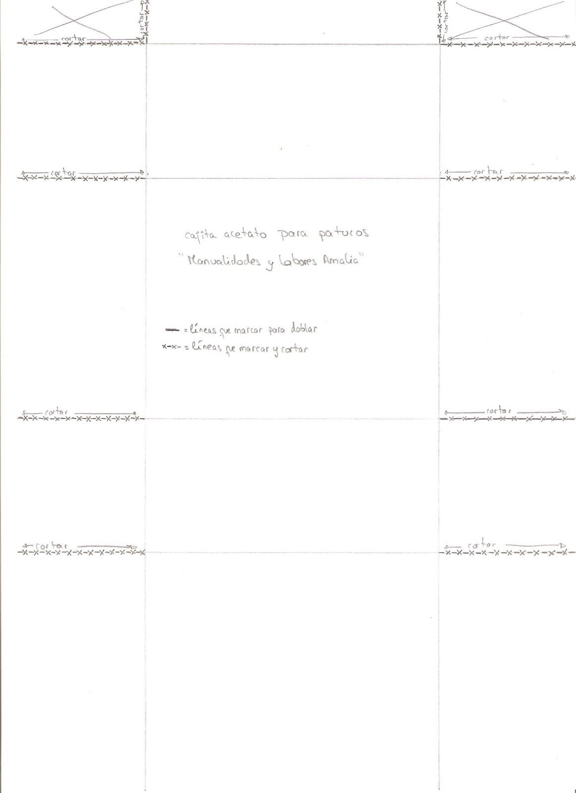 Manualidades y Labores Amalia: Cómo hacer cajas transparentes para ...