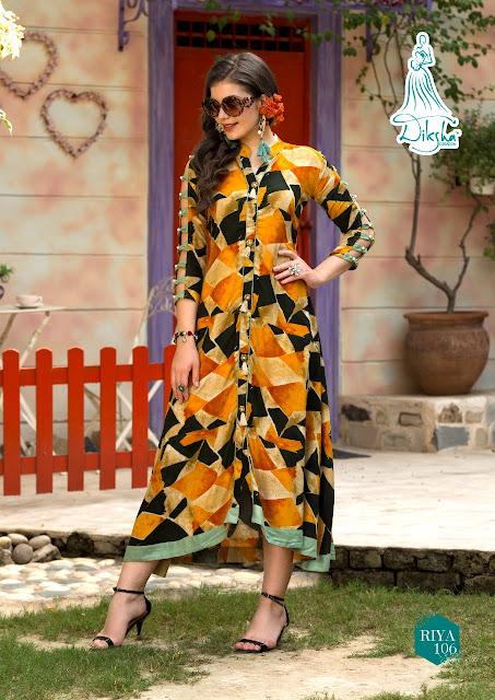 Diksha fashion Riya vol 1 Party wear Kurtis