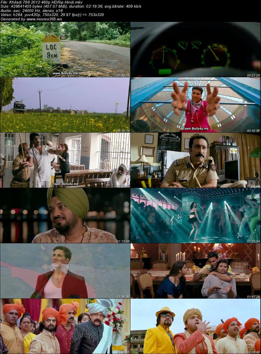 Khiladi 786 2012 Full Hindi Movie 480p HDRip 400MB