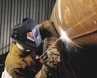 Working as a welder
