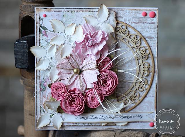 Kartka w różu