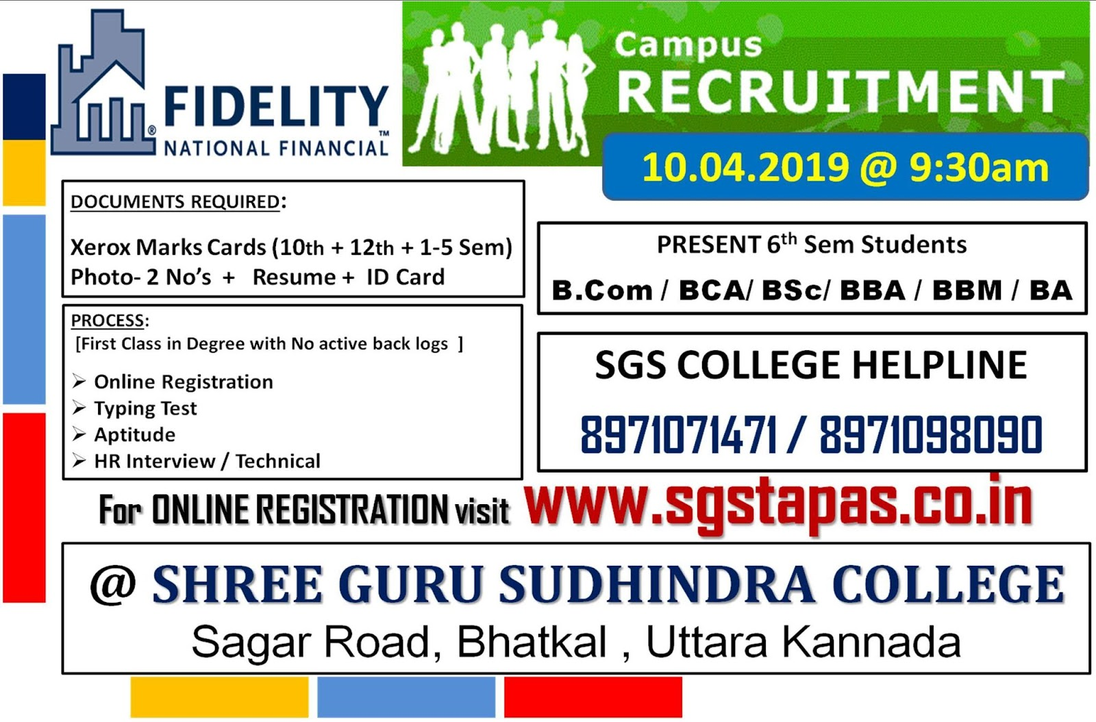 FnF Campus Recruitment Drive