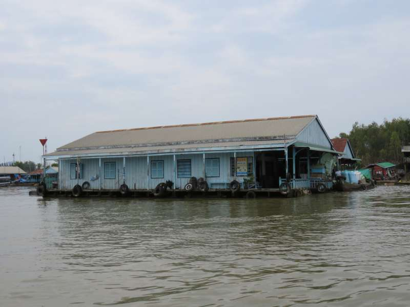Vietnamese fish farmer's house