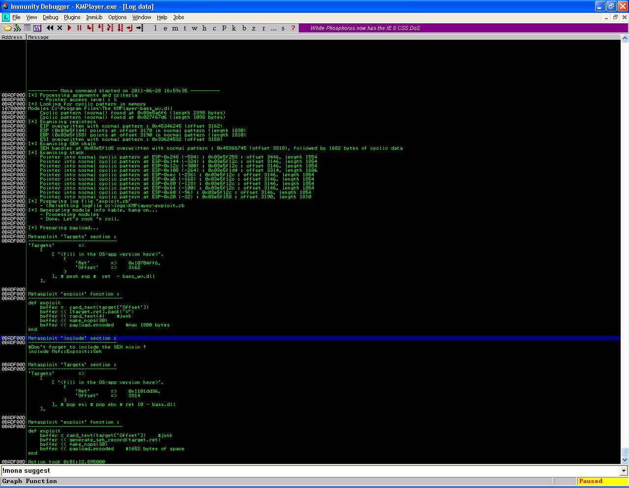 Exploit Development with mona py | Secure Belief