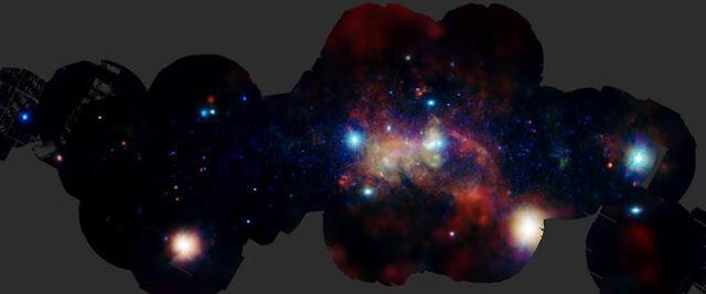 o centro da nossa Galáxia em raio-x