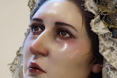 Resultado de imagen de Rosario  Virgen de los Desamparados. Málaga