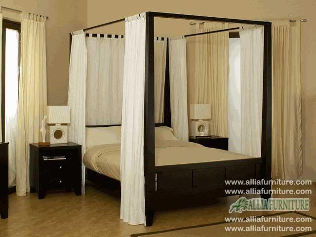 tempat tidur minimalis kanopi bahama