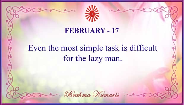 Thought For The Day February 17