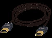 HDMI端子の付いたケーブルのイラスト
