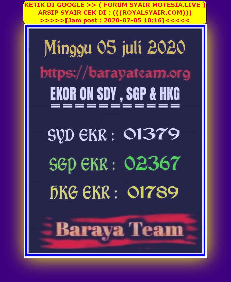 Kode syair Sydney Minggu 5 Juli 2020 73