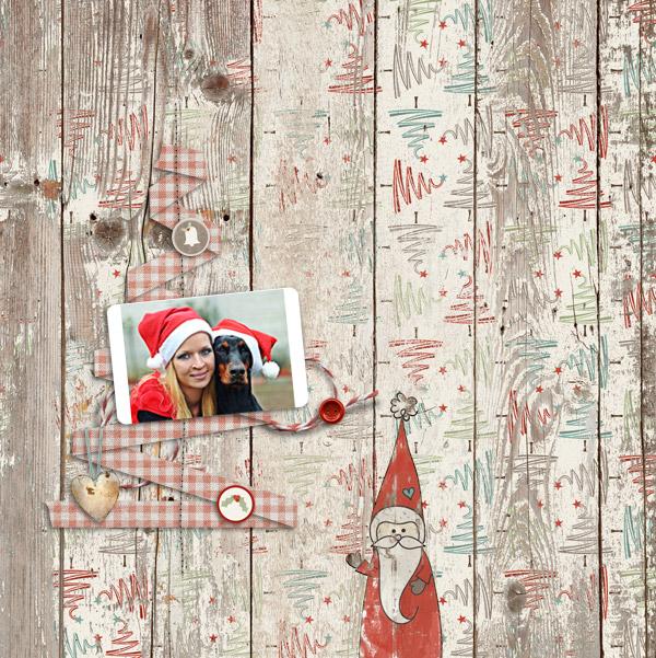 santa claus © sylvia • sro 2016 • nibbles skribbles • rustic christmas