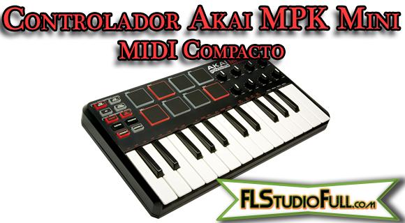 Controlador Akai MPK Mini - MIDI Compacto