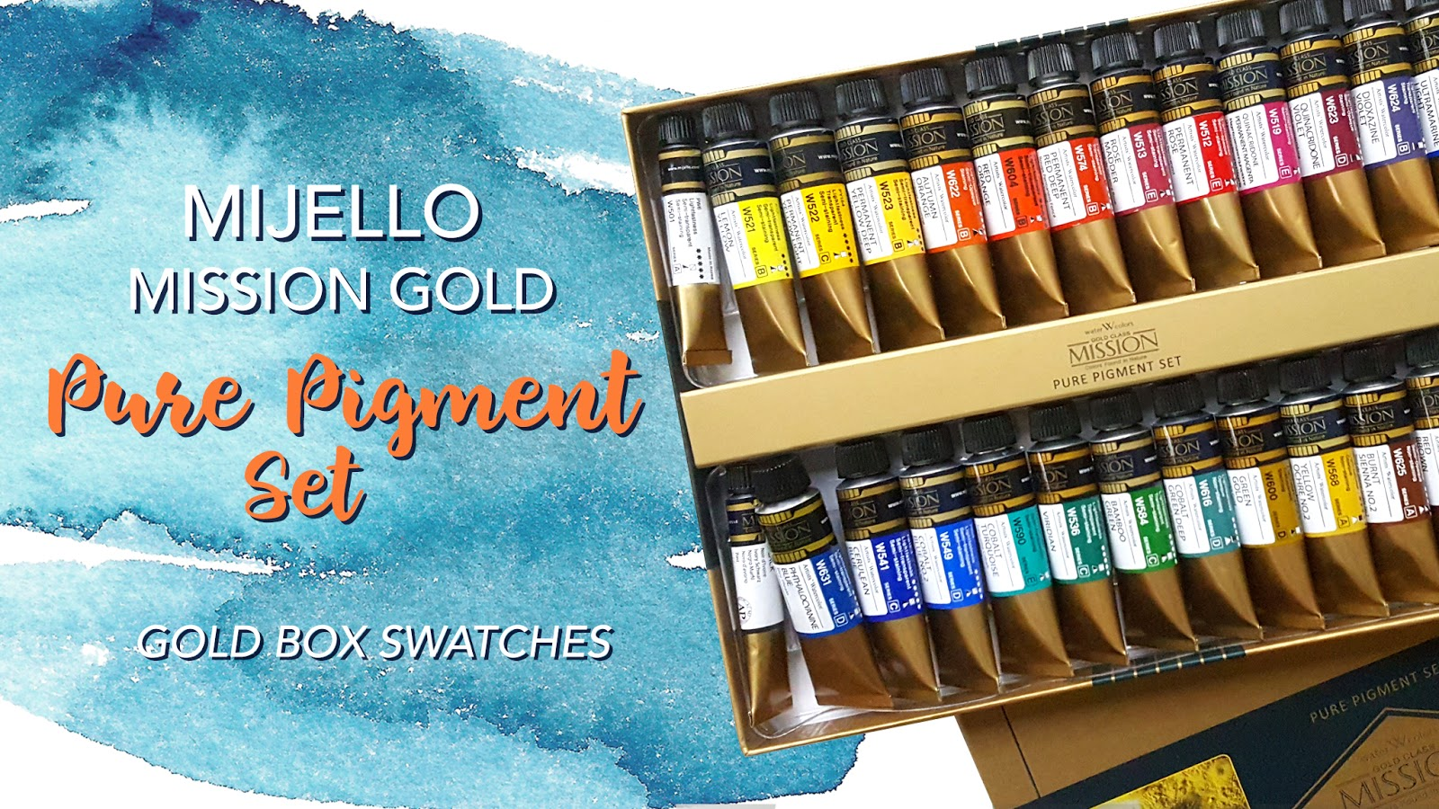 Mijello Mission Gold Pure Pigment Set Golden Box