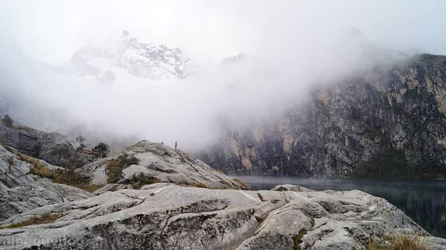 huaraz, laguna churup, senda, trekking, peru