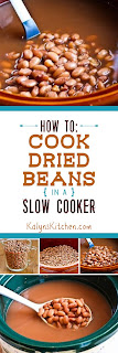 How to Cook Dried Beans in a Crockpot Slow Cooker found on KalynsKitchen.com