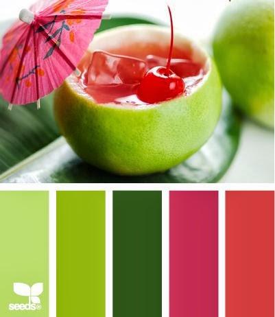 colour scheme inspiration green pink red summer splash spring sail and swan