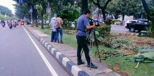 Tanaman Balaikota Rusak Pasca Demo Massa Islam, Petugas Taman: Memang Selalu Begini Kalau Ada Demo