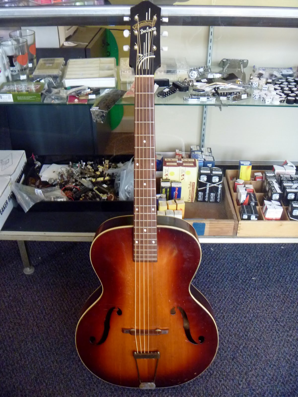 wood wire guitar shop blog armstrong deluxe archtop. Black Bedroom Furniture Sets. Home Design Ideas