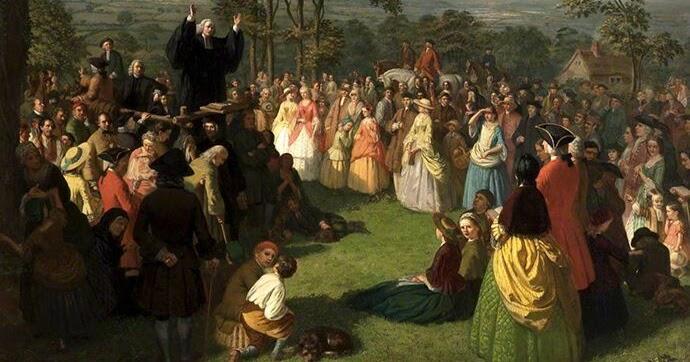 Resultado de imagem para whitefield pregando ao ar livre