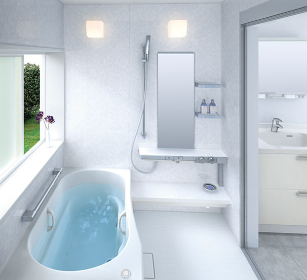 Bathroom shower panel luxury small bathroom design - Small bathroom with tub and shower ...