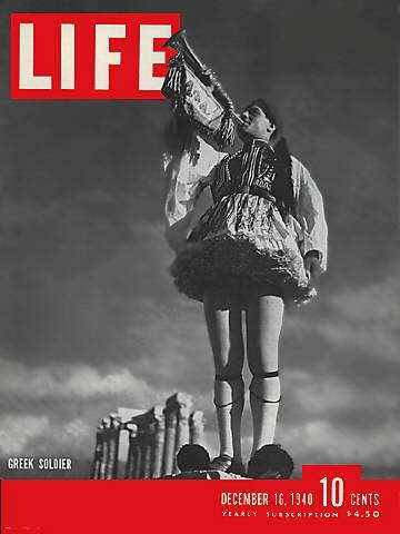 Greek soldier on front cover of Life magazine When the Greeks said no 1940