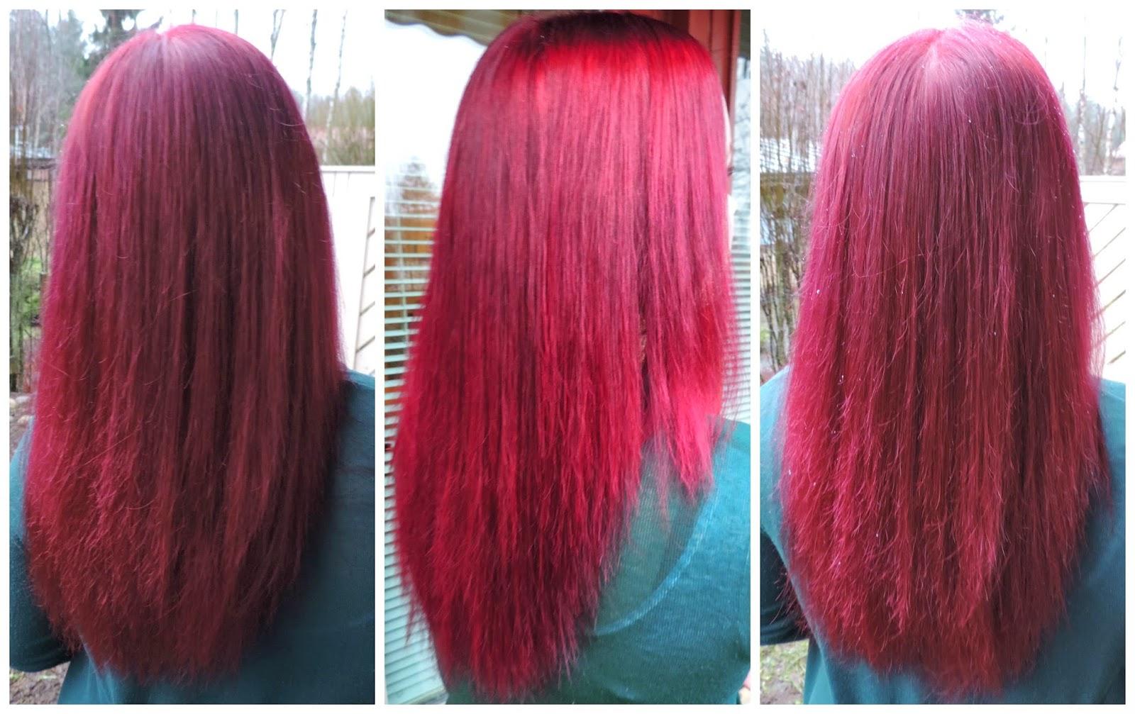 Punaiset hiukset ja värin ylläpito