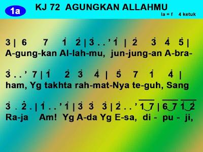 Lirik dan Not Kidung Jemaat 72 Agungkan Allahmu