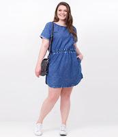 Moda Vestido Jeans Curve Plus Size