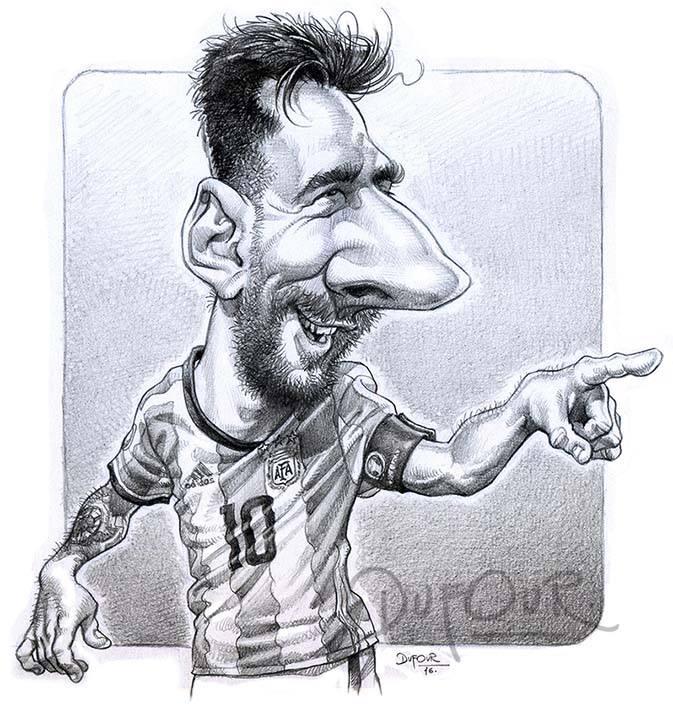 Leo Messi por Santiago Dufour