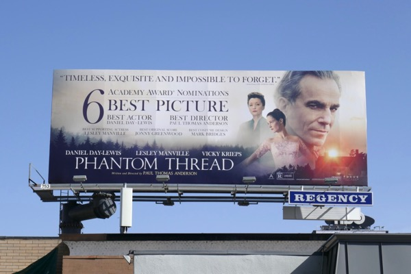 Phantom Thread Academy Award billboard