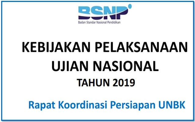 Juknis Pelaksanaan Ujian Nasional SD SMP SMA dan SMK Tahun 2019