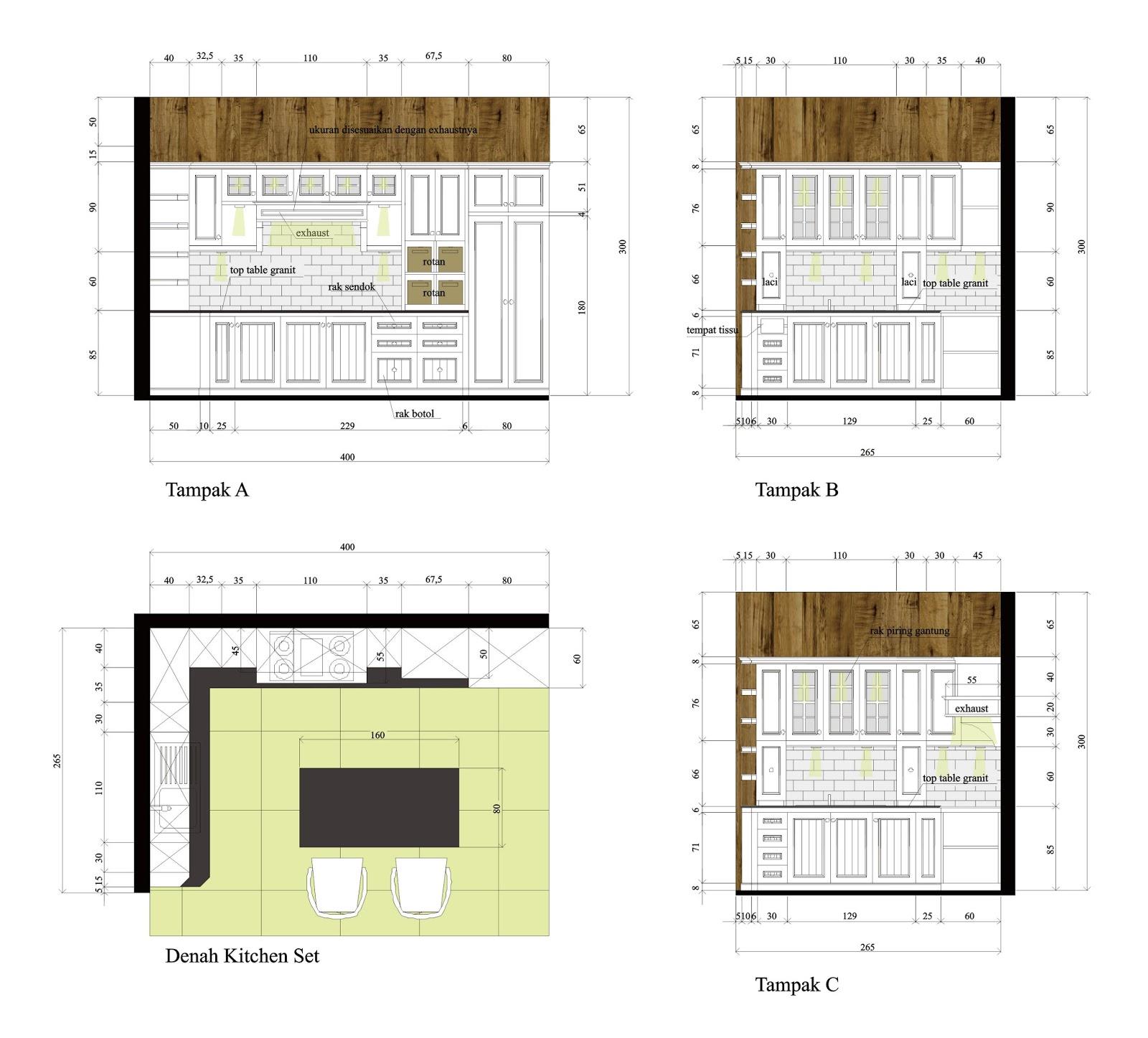 Idesign Arsitektur Kitchen Set Island Dan Meja Makan Bergaya Vintage