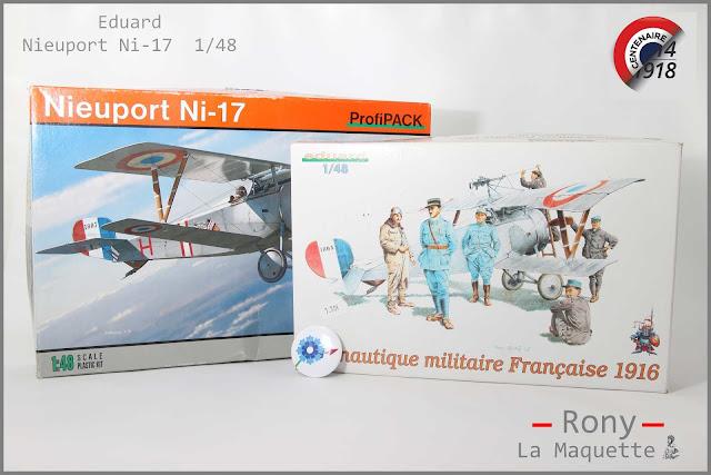 Nieuport Ni-17 et des figurines de l'armée de l'air française de la Première Guerre Mondiale.