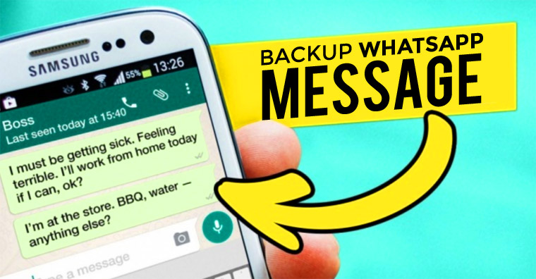 Cara Backup Percakapan WhatsApp Messenger dengan Mudah