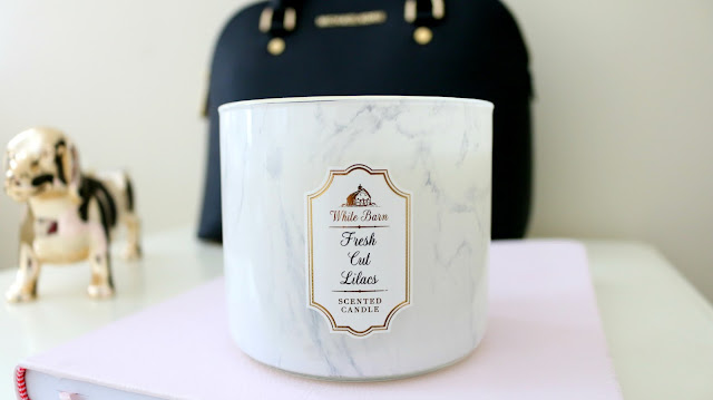 Bath and Body Works Fresh Cut Lilacs, Bath and Body Works Marble Candle