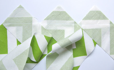 Chain stitch the binding pieces in a row
