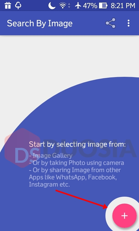 pencarian dengan gambar di android