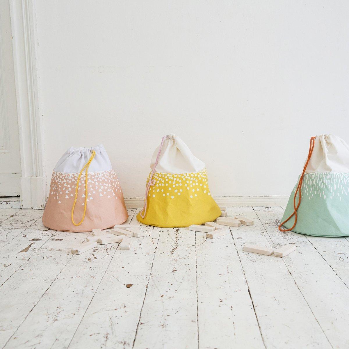 bolsa para guardar juguetes tipikids - portajuguetes