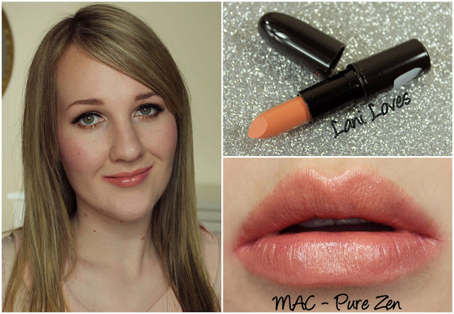 MAC Pure Zen lipstick swatch