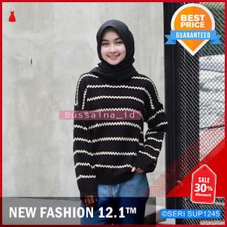 SUP1245S34 Sweater Rajut Oxxy Stripe Swaeter Murah BMGShop