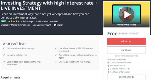[100% Off] Investing Strategy with high interest rate + LIVE INVESTMENT| Worth 189,99$