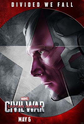 "Captain America Civil War ""Team Iron Man"" Character Movie Poster Set - Paul Bettany as The Vision"