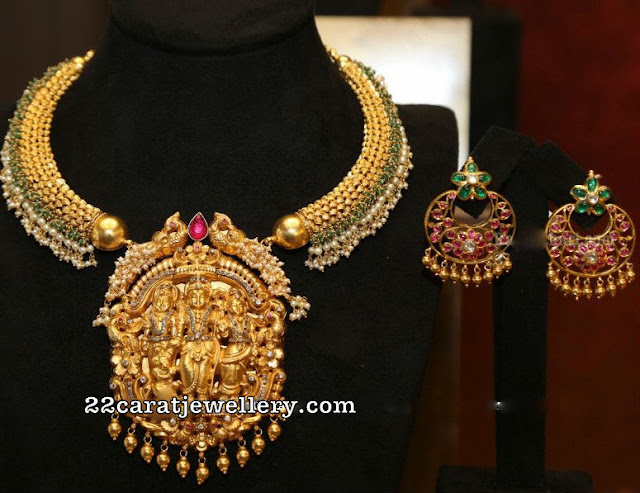 Traditional Kante with Ram Sita Pendant