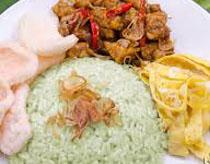 Resep praktis (mudah) nasi hijau spesial (istimewa) enak, sedap, gurih, nikmat lezat